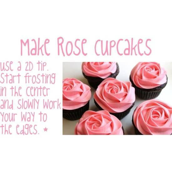 How make rose cupcakes