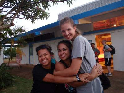 Myself and two dear friends from Hawaii :)